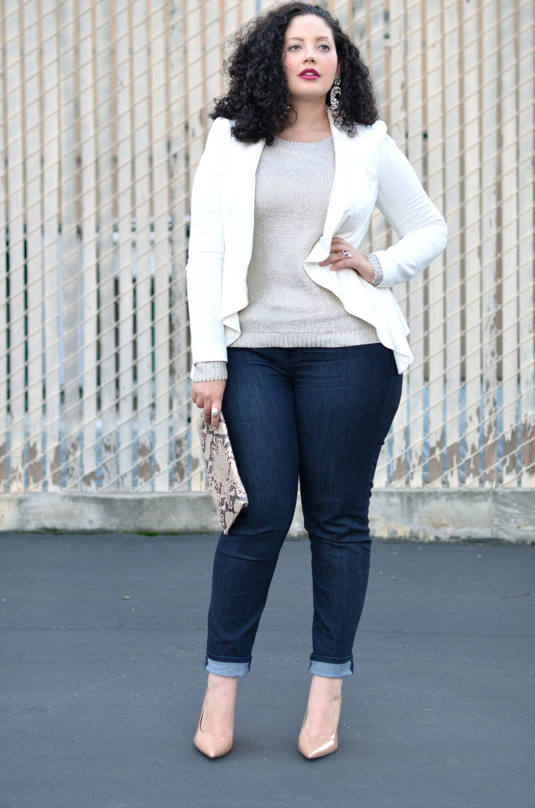 Denim edit curvy clothes and curves for Tucked in shirt plus size