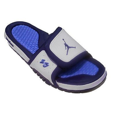 1f94d2cf7a12 Nike Jordan Hydro 2 Premier Mens 456524-104 White Navy Slide Sandals Size 8