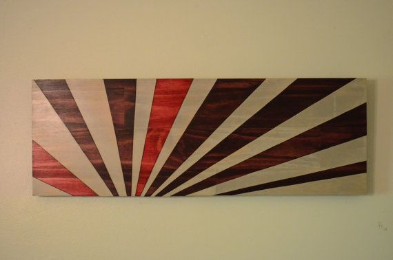 Wood Art Rising Sun Redux 36x12 Wall Wooden