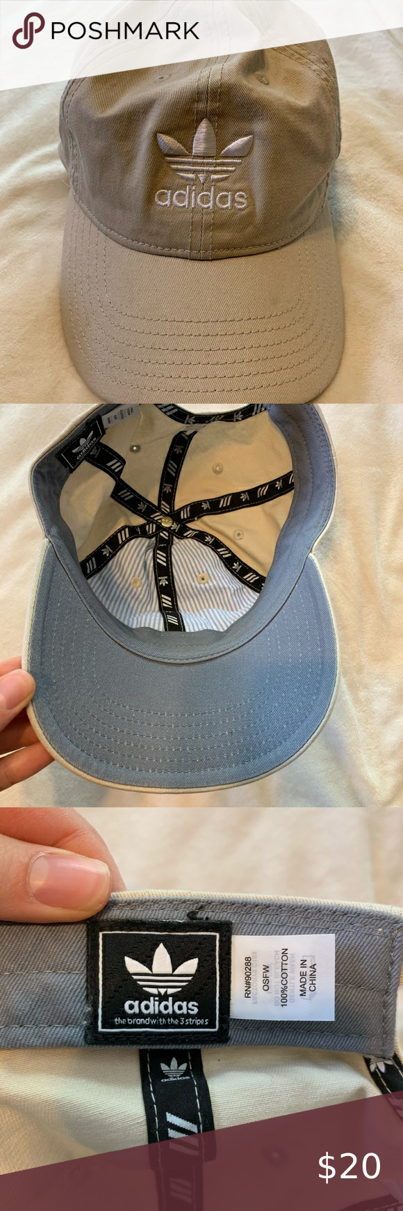 Adidas Khaki Baseball Cap Beige Hat Adidas Khaki