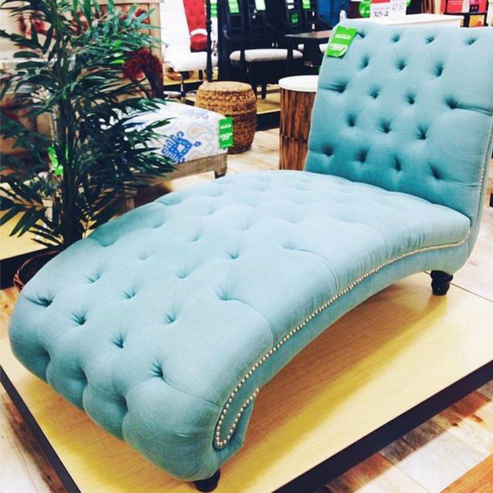 Home Goods Finds Blue Chaise