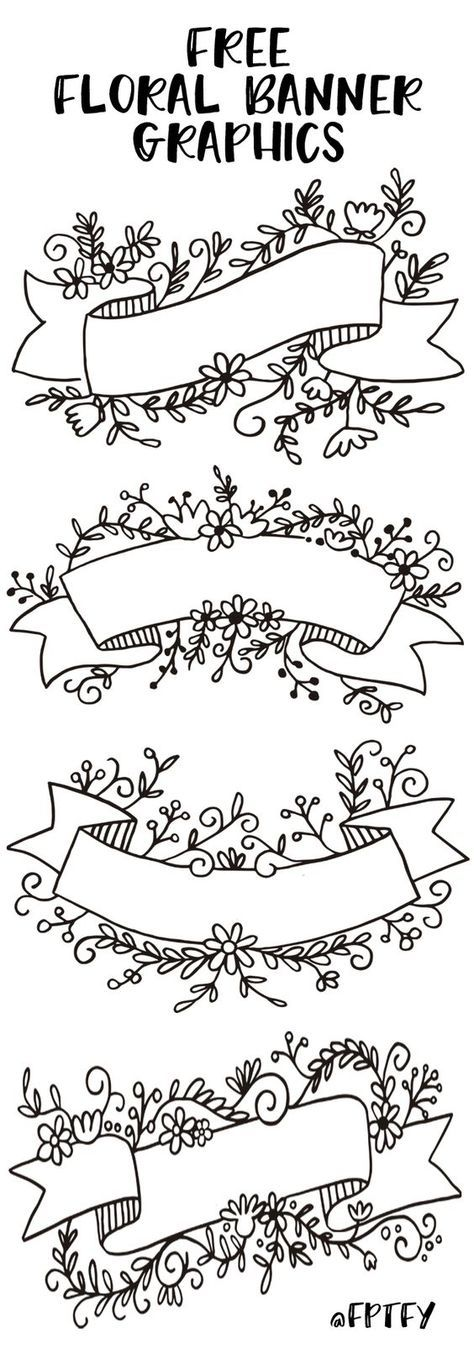 Free Floral Banner Graphics- Set of 4-CU ok! - Free Pretty Things For You #scrapbook