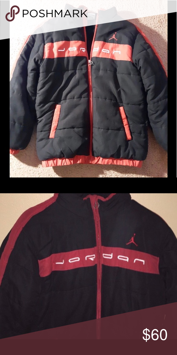 925ca66c3b40 Jordan Black   Red Puffer Jacket Youth Sz M (10) Jordan Black   Red Puffer  Jacket.. Youth Size M (10) Pre-Owned in EUC Jordan Jackets   Coats Puffers
