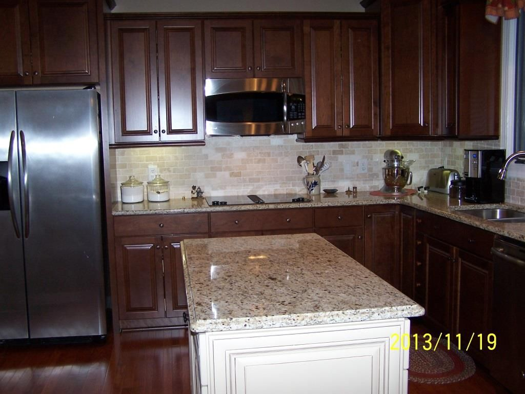 Giallo ornamental 10 11 13 pinteres for Small kitchen granite countertops