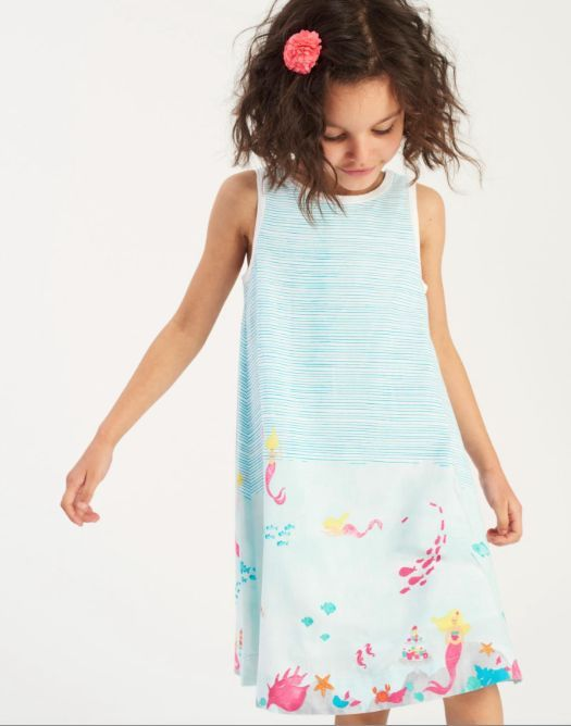 e435028b7de This Joules Girls Bunty Woven Dress in Under the Sea will have her dancing  with joy! Works for parties or playtime. - Hand-drawn prints - Button back  ...