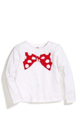 J Khaki   Dot Bow Top Toddler Girls