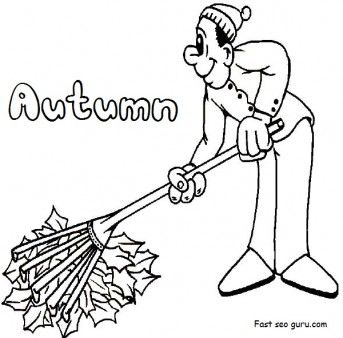 Printable Clean Fall Leaves coloring pages kindergarten