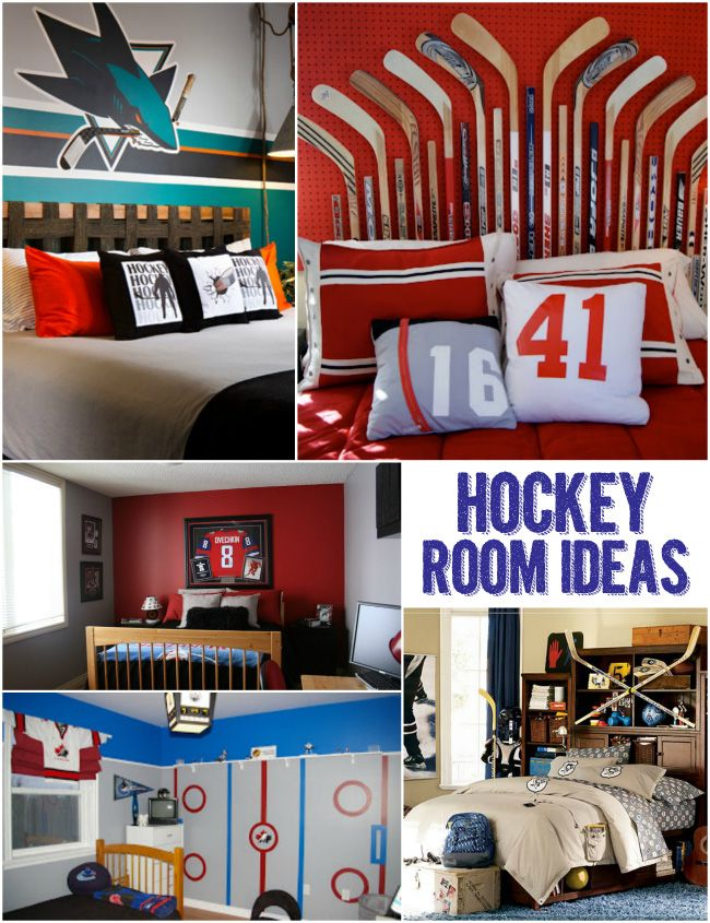 Cool Hockey Themed Bedroom Decorating Ideas Hockey Room Hockey