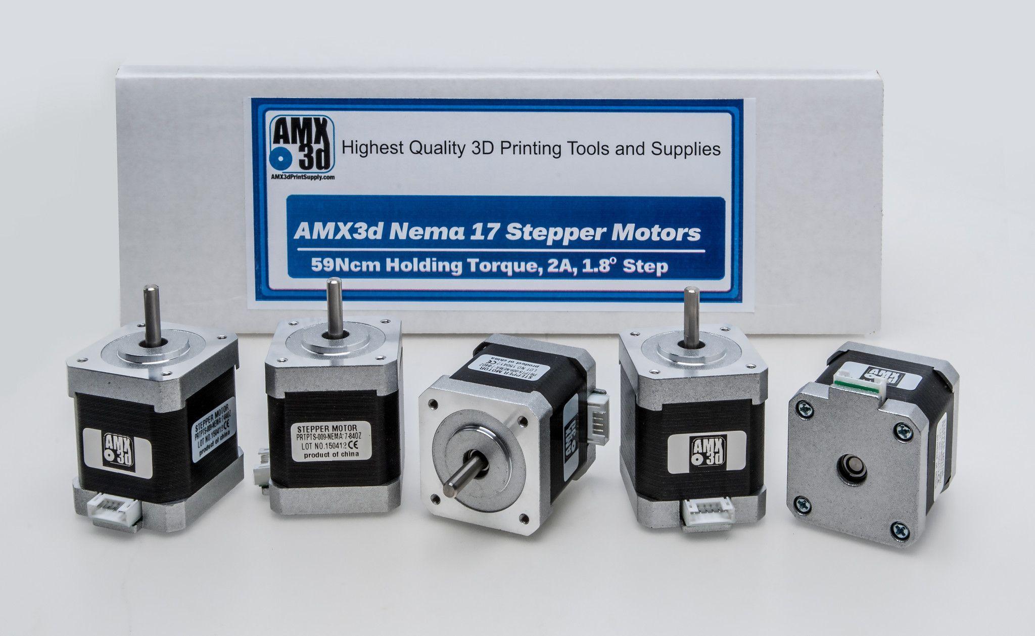 5 count amx3d high holding torque 84oz 59ncm bipolar stepper motor nema 17 frame 1m wiring harness [ 2048 x 1258 Pixel ]