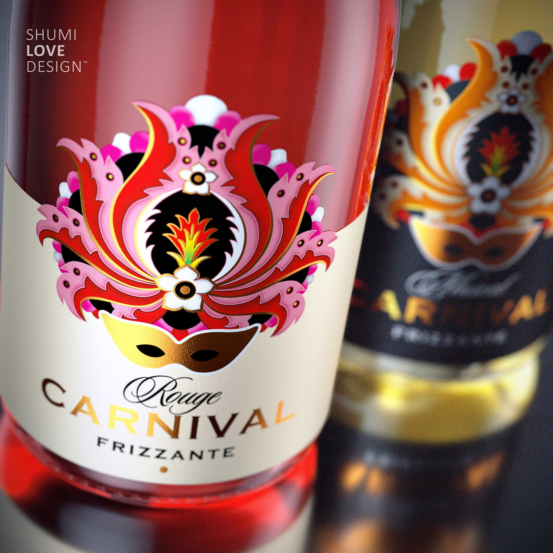 Carnival Wine Lables Sparkling Wine Wine Packaging