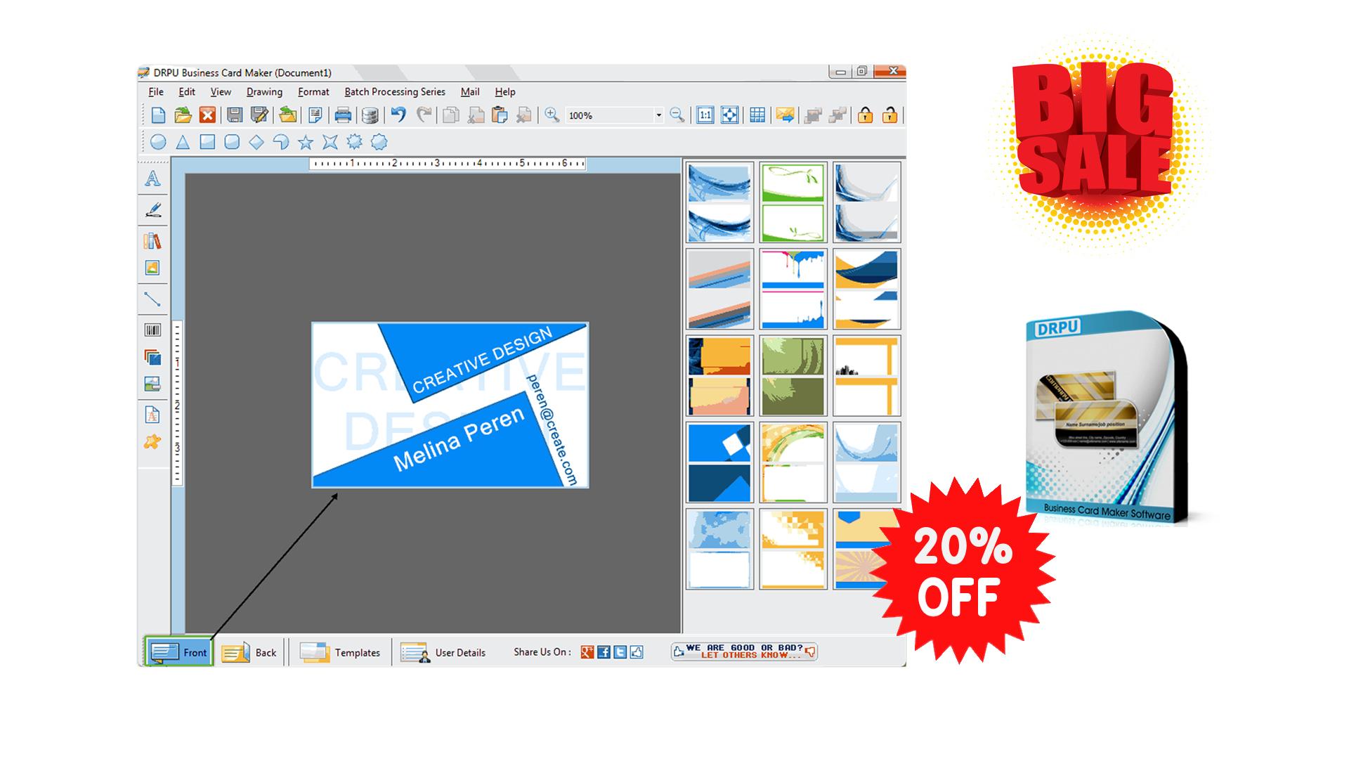 Hot Discount 20 Off Drpu Business Card Maker Software Http Tickcoupon Com Stores Drpu Software Coupon Codes Pag Business Card Maker Business Cards Software