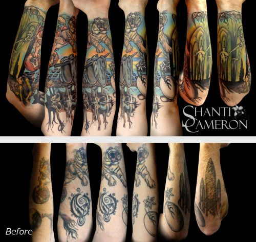 Fyeahtattoos Com I Just Recently Finished This Dali 1 2 Sleeve Sleeve Tattoos Tattoos Cat Tattoo