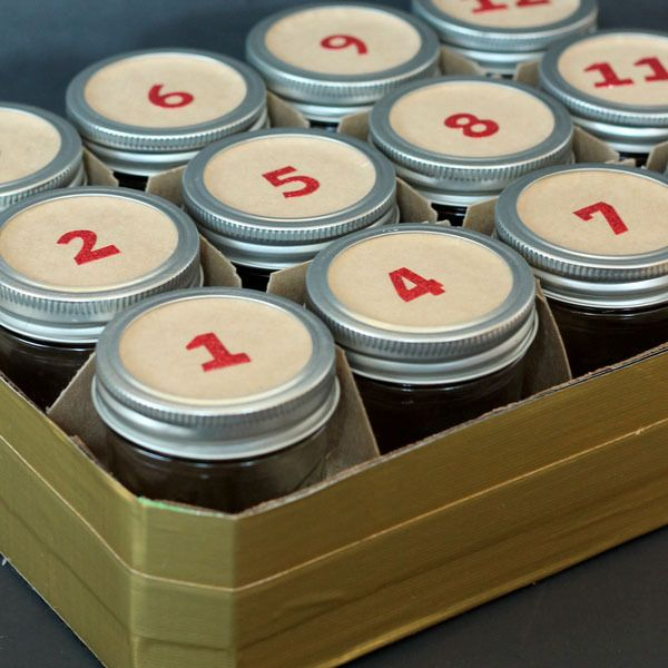 advent calendar ideas mason jars