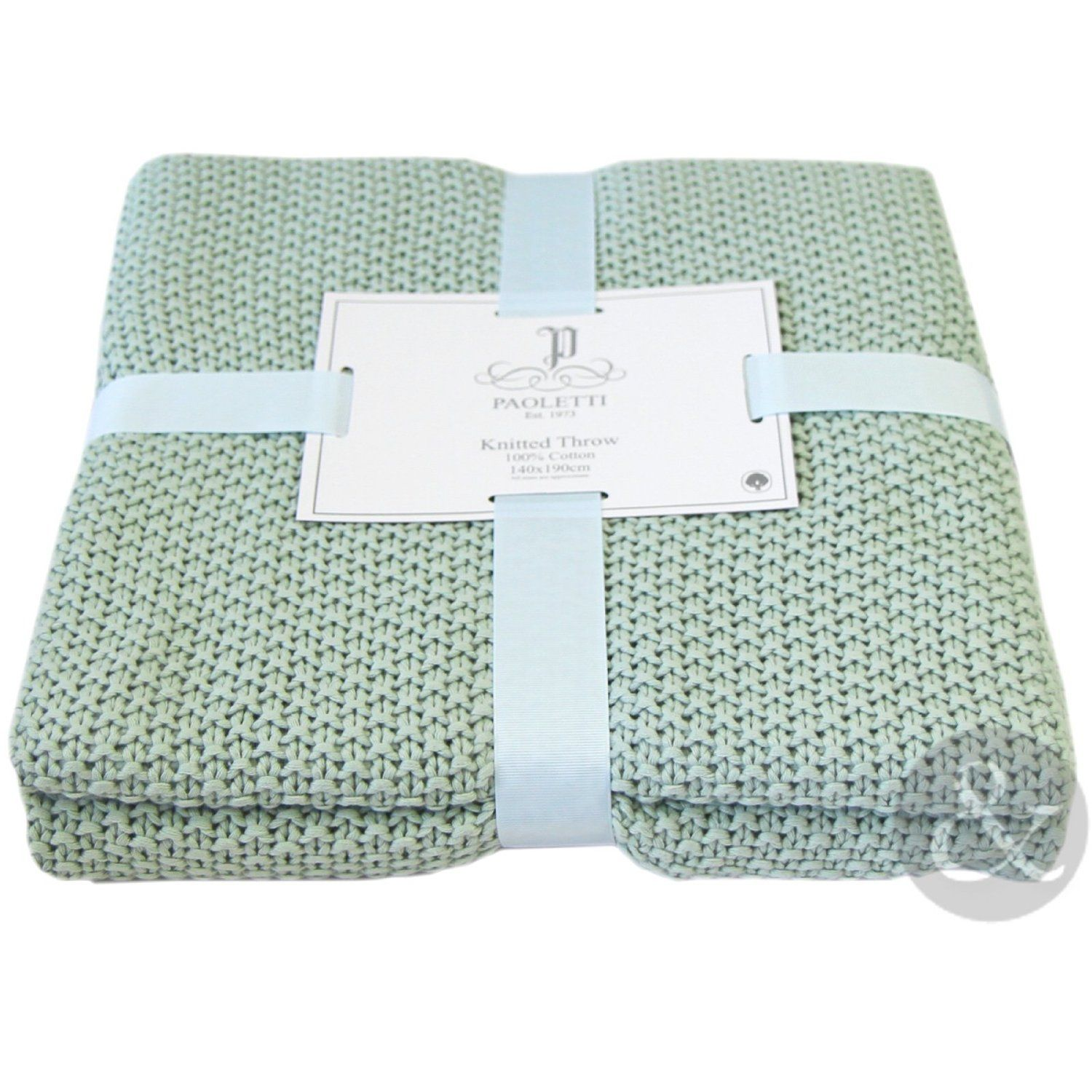 100 Cotton Knitted Throw Over Luxury Soft Bed Blanket Sofa Throws 140 X 190cm Eau De Nil Green 140cm X 190c Cotton Sofa Throws Sofa Throw Knitted Throws