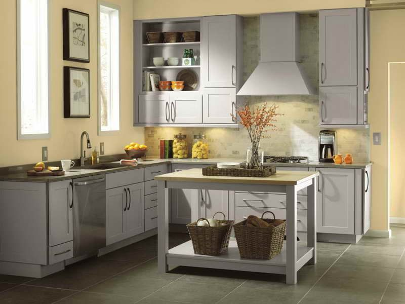 Resindtial Grey Schrock Cabinets For Kitchen | cocina ...