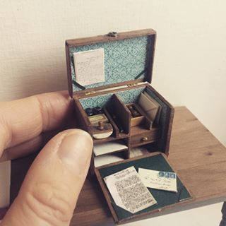 Miniature stationery box One inch 112 scale miniatures