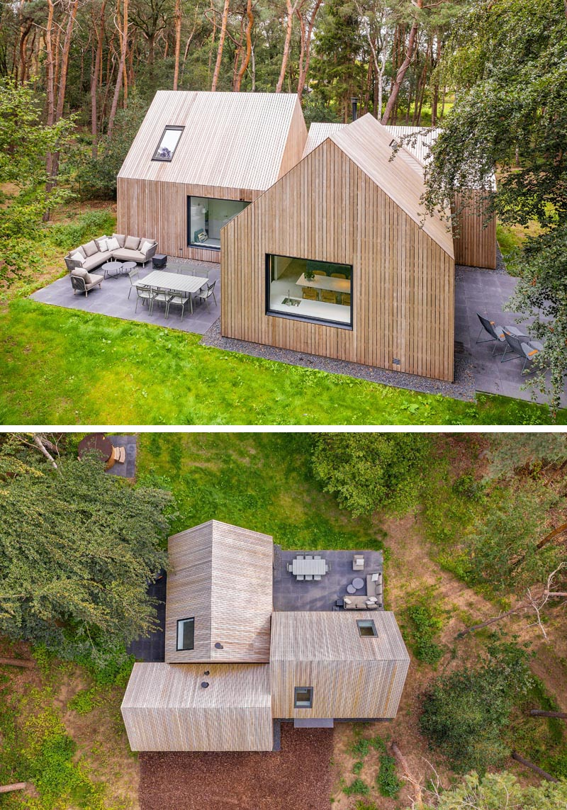 This Modern Cabin Has Both The Roof And Siding Entirely Covered By The Same Wood
