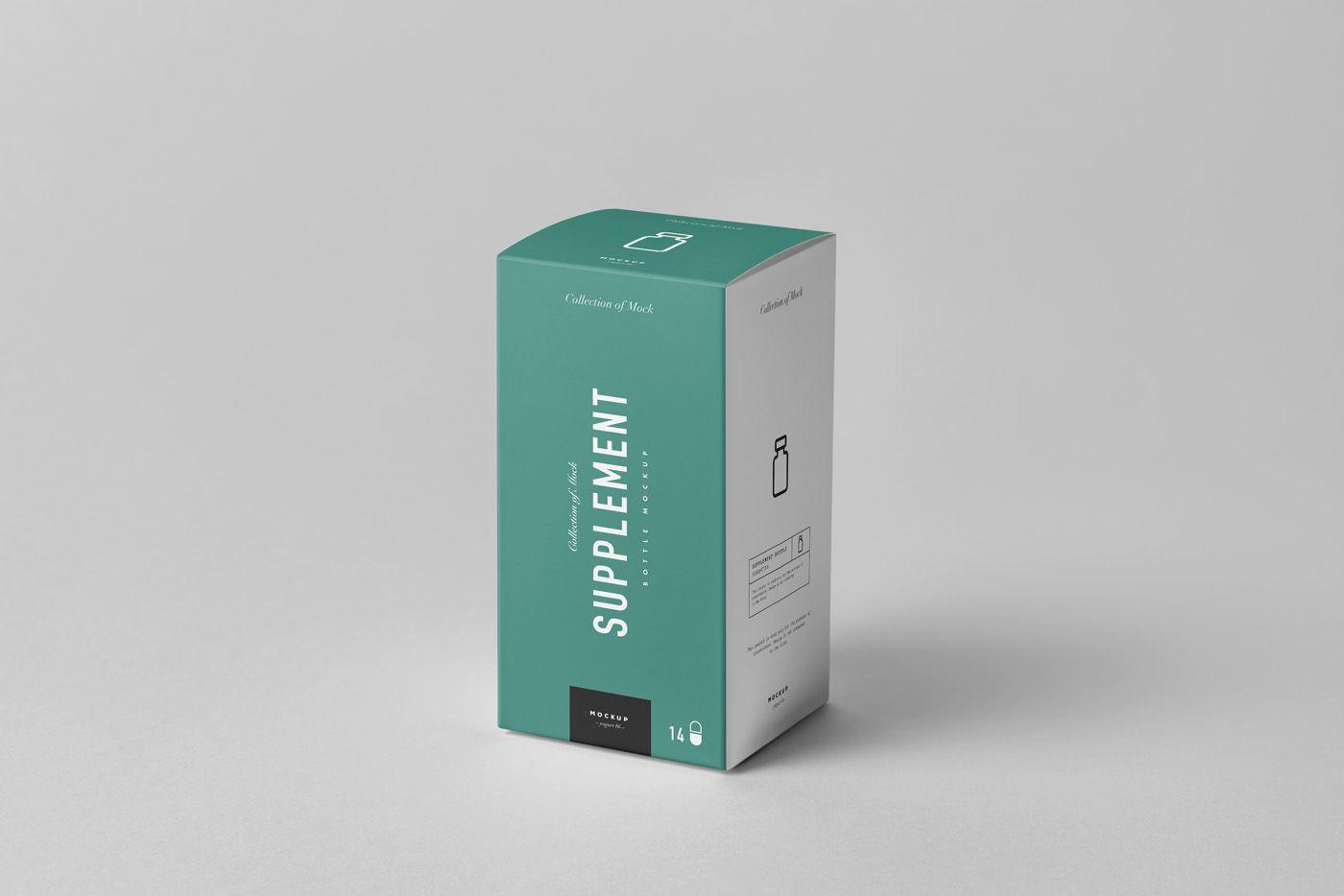 Download Supplement Jar Box Mock Up On Behance