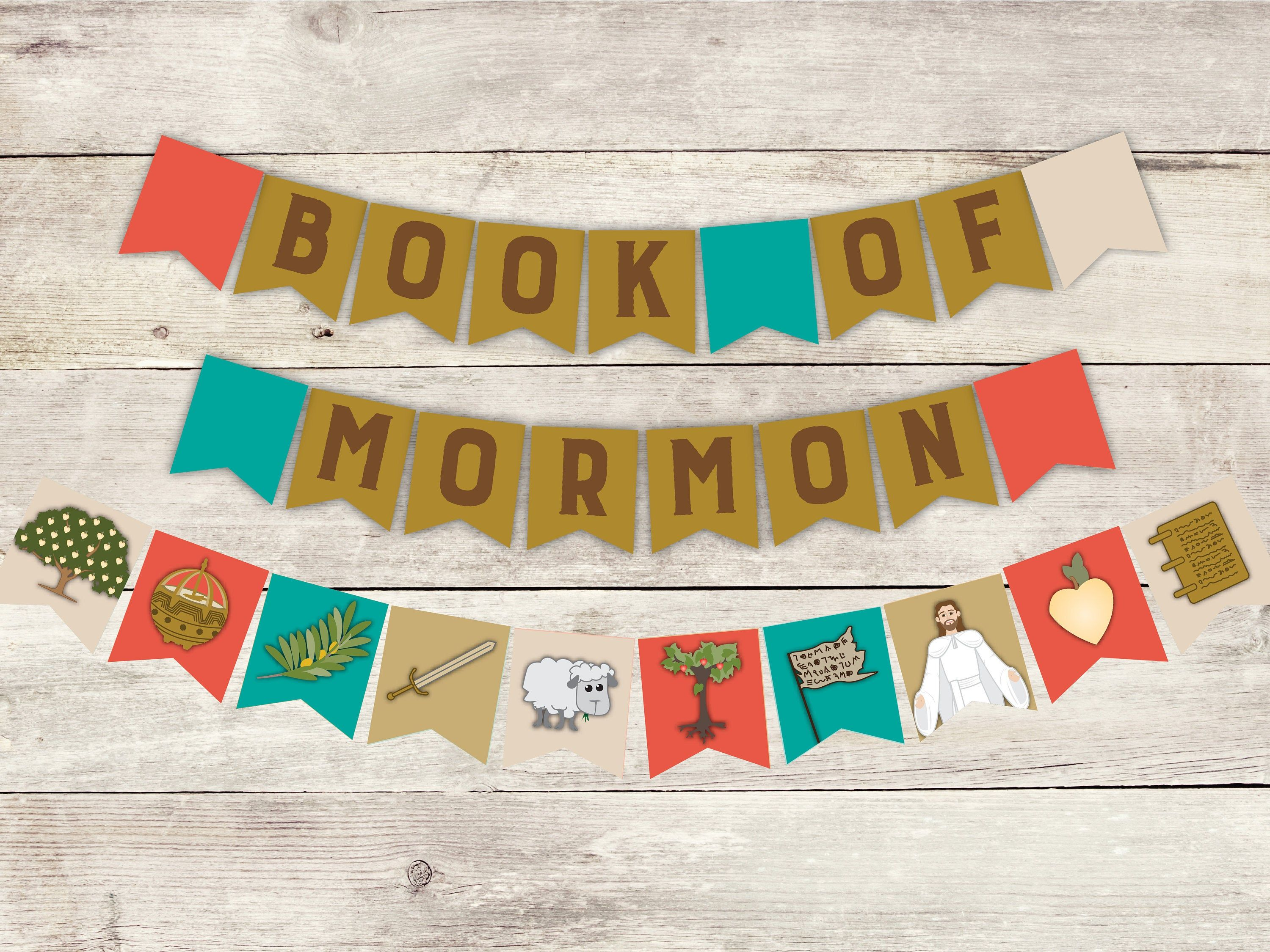 Instant Download Mini Flag Banner Printable 2020 Lds Etsy Lds Primary Theme Book Of Mormon Lds Primary