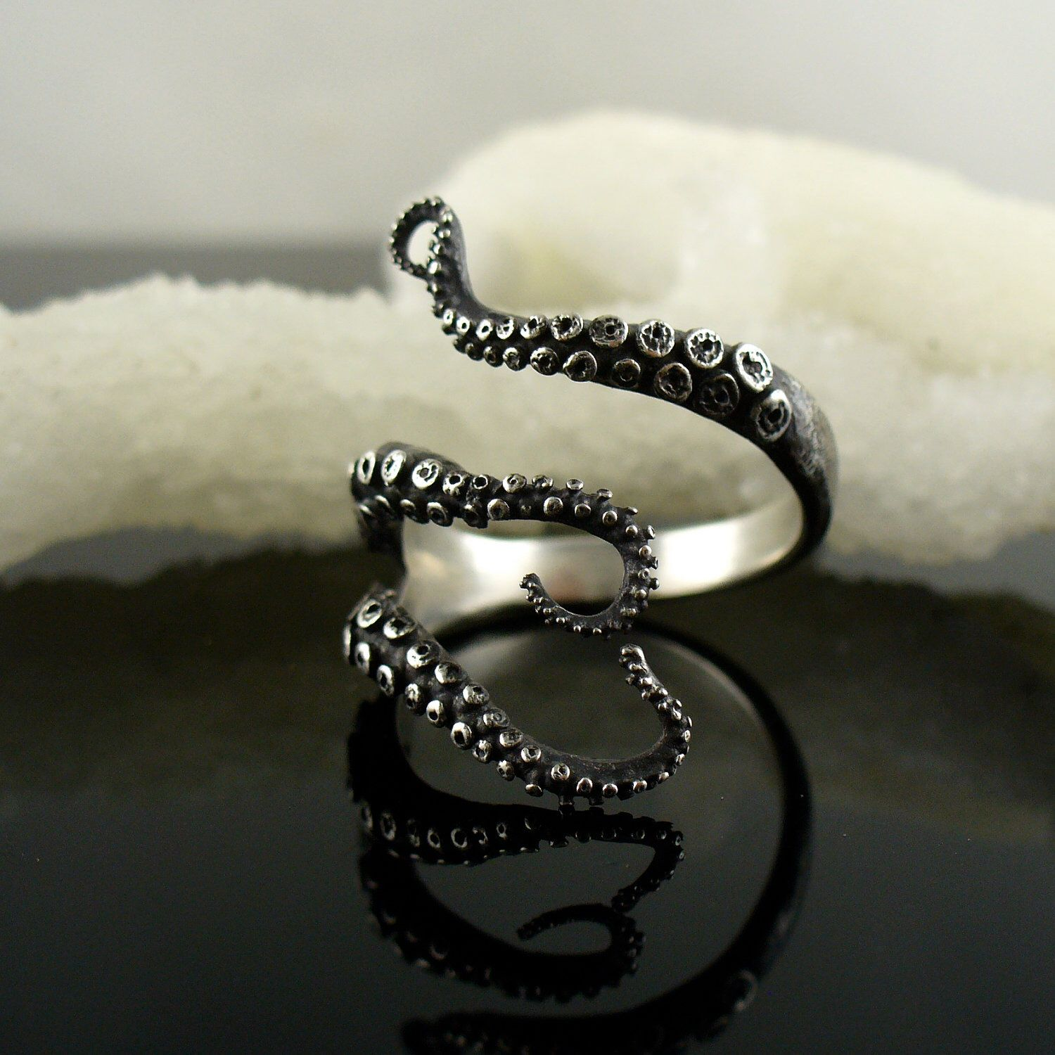 SALE - wicked tentacle ring by OctopusMe on Etsy https://www.etsy.com/listing/92345055/sale-wicked-tentacle-ring