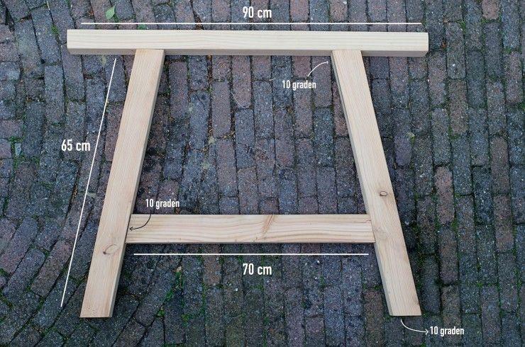 Tafel Tuin Hout.Buiten Tafel Maken 3 Onze Tuin Tuin Ideeen Buiten