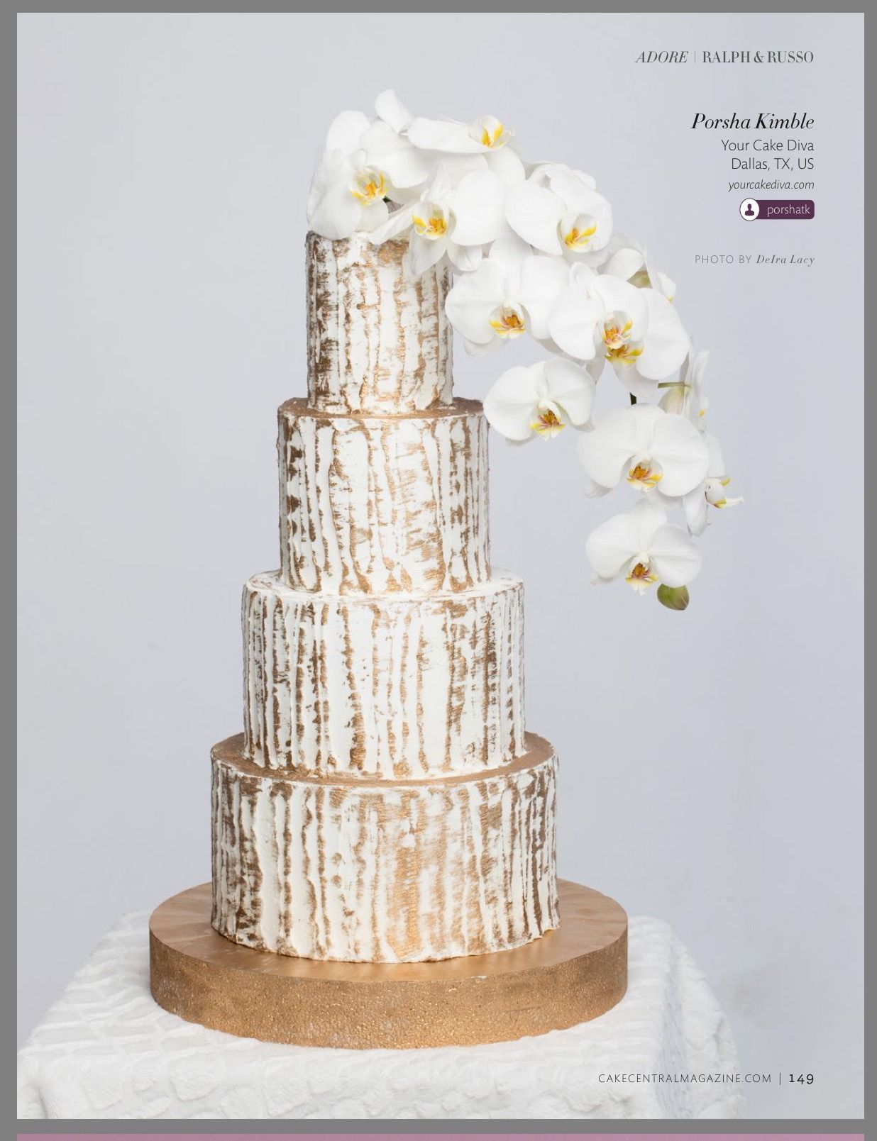 Gold modern wedding cake