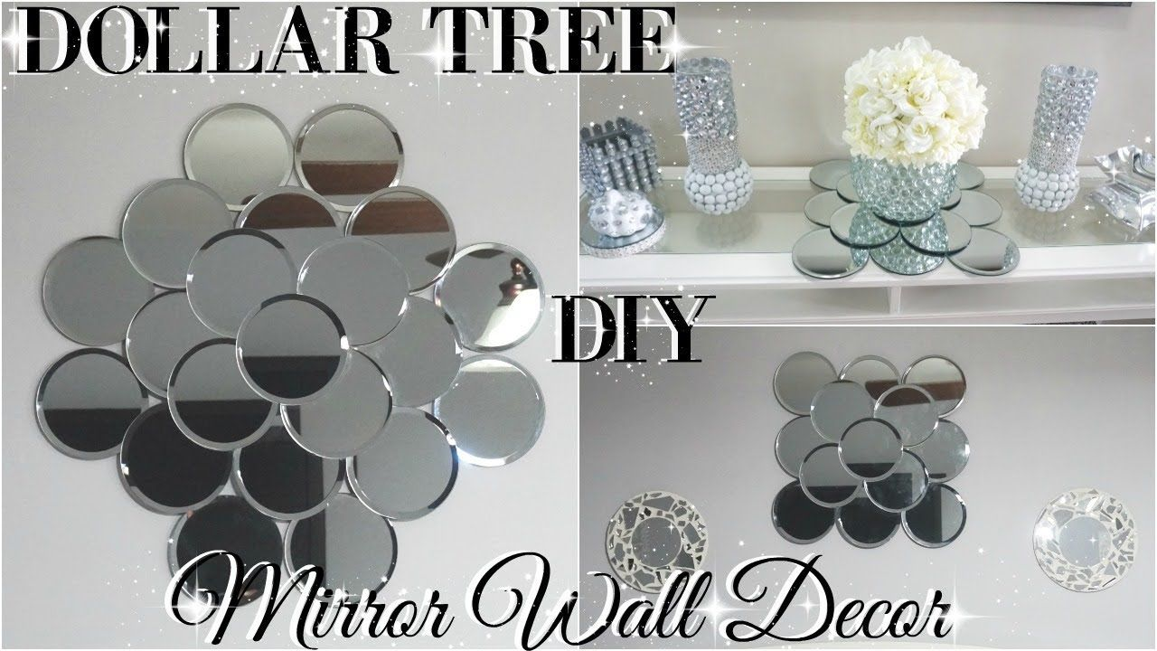 Diy Dollar Tree Mirror Wall Art Diy Dollar Store Glam Room Decor Pi
