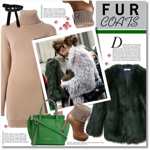 Cropped Faux Fur Coats by svijetlana on Polyvore featuring polyvore, fashion, style, Marc Jacobs, THP, Gucci, Salvatore Ferragamo, Anja, women's clothing and women's fashion