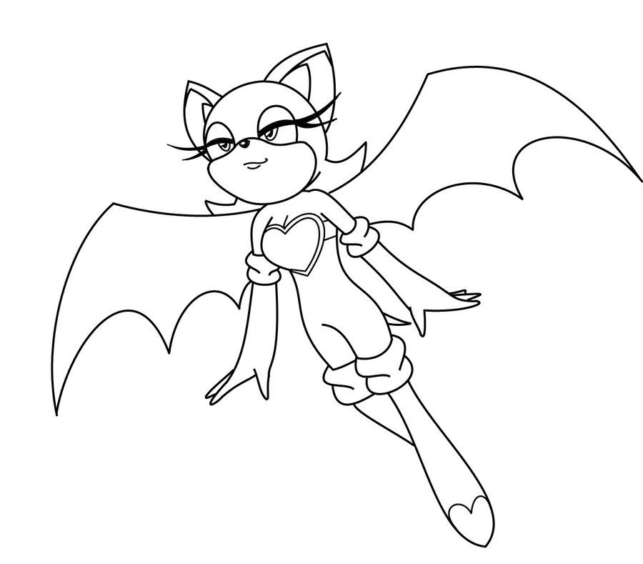 Sonic Coloring Pages Bat Coloring Pages Rouge The Bat Dragon