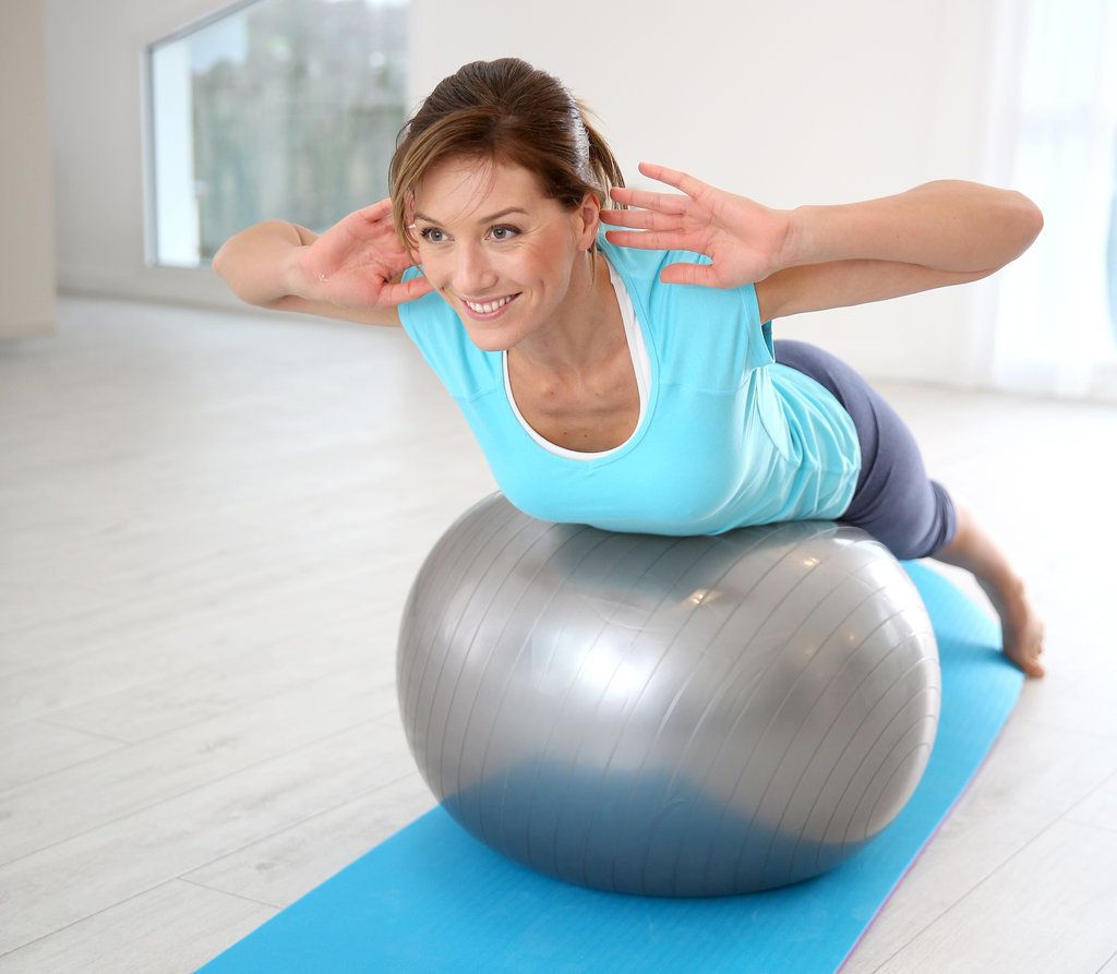 Stability Ball Moves: 4 Exercise-Ball Moves That Help Tame Back Bulge