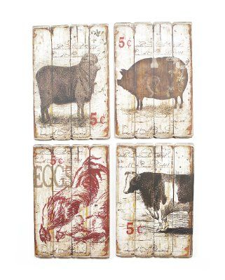 Look At This Melrose Farm Animal Wall Plaque Set By Rooster En Pig Office Country Decor