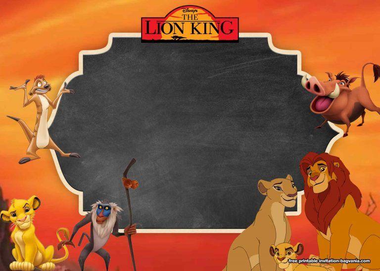 8 Free Printable Lion King Invitation Templates Lion King Birthday Lion King Invitation Lion King Invitation Template