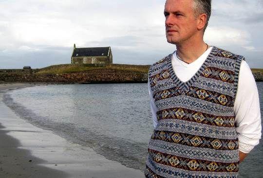 Shetland Sky :: Mano Knit Fair Isle suéter, Jersey :: María ...