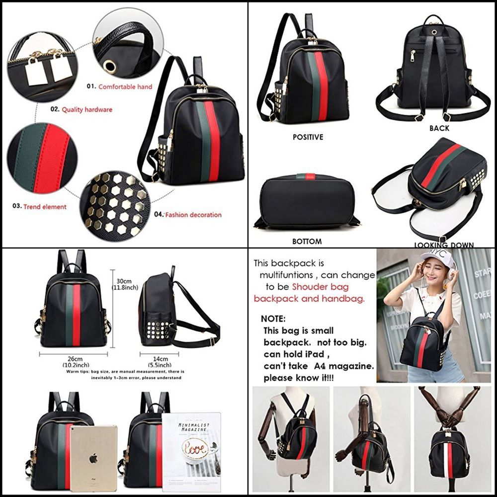 1c93e41951f0 Ladies Luxury Leather Bag Backpack Gucci Pattern Tote Handbag Gift For Women  NEW  Mynos