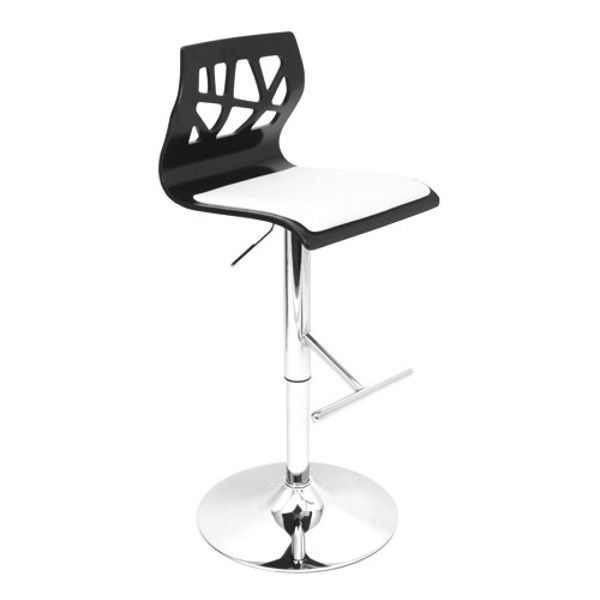 Folia Bar Stool In Black And White   Viking Casual Furniture. From  LumiSource The Curved