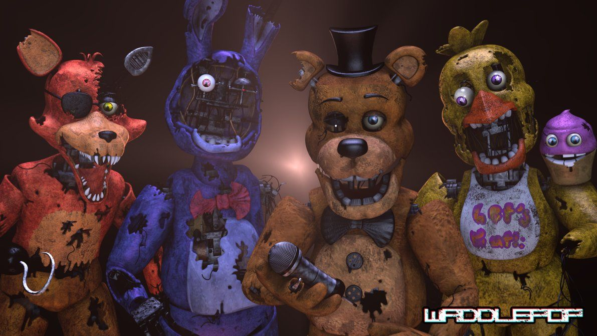 Stylized Withered Generations [SPEEDART] by witheredfnaf