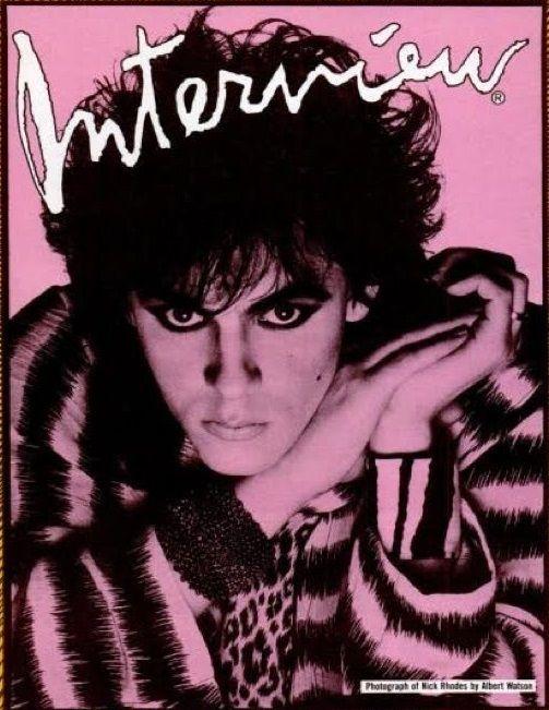 Nick Rhodes 'Interview' Magazine November 1985