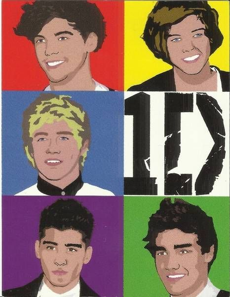 1D One Direction POP ART poster and postcards!!! Must have ...