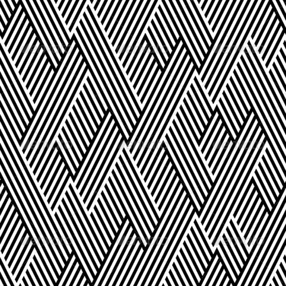 Line Textures Illustrator : Pattern in zigzag with line black and white