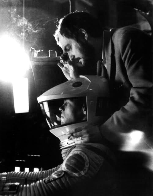Stanley Kubrick directing 2001: A Space Odyssey.