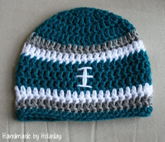 c5623856 Philadelphia Eagles Crochet Football Hat {Handmade by Holaday ...