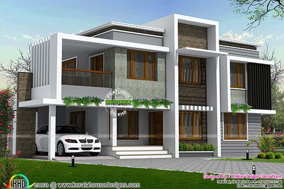Simple type of contemporary homes in 2558 sq-ft Modern Hse 1