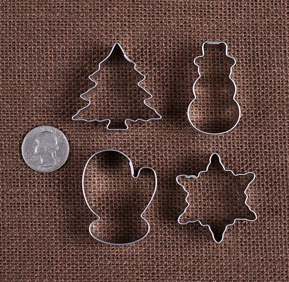 Christmas Cookie Cutter Set, MINI Christmas Cookie Cutters, Mini