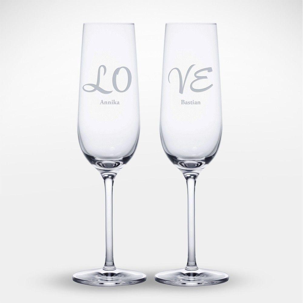 Sektglaser Mit Gravur Love Personalisiert Sektglaser Mit