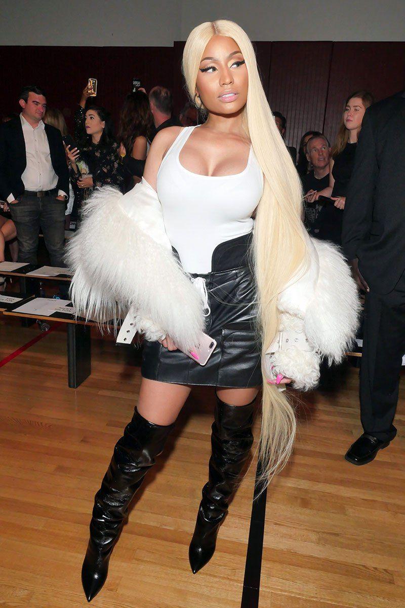 Celebs Rocking Rapunzel Length Locks Pics Fashion Nicki Minaj