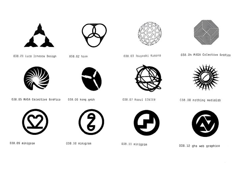 Los Logos Ideogrammes Ideogram Logo Monochrome Black White Logos