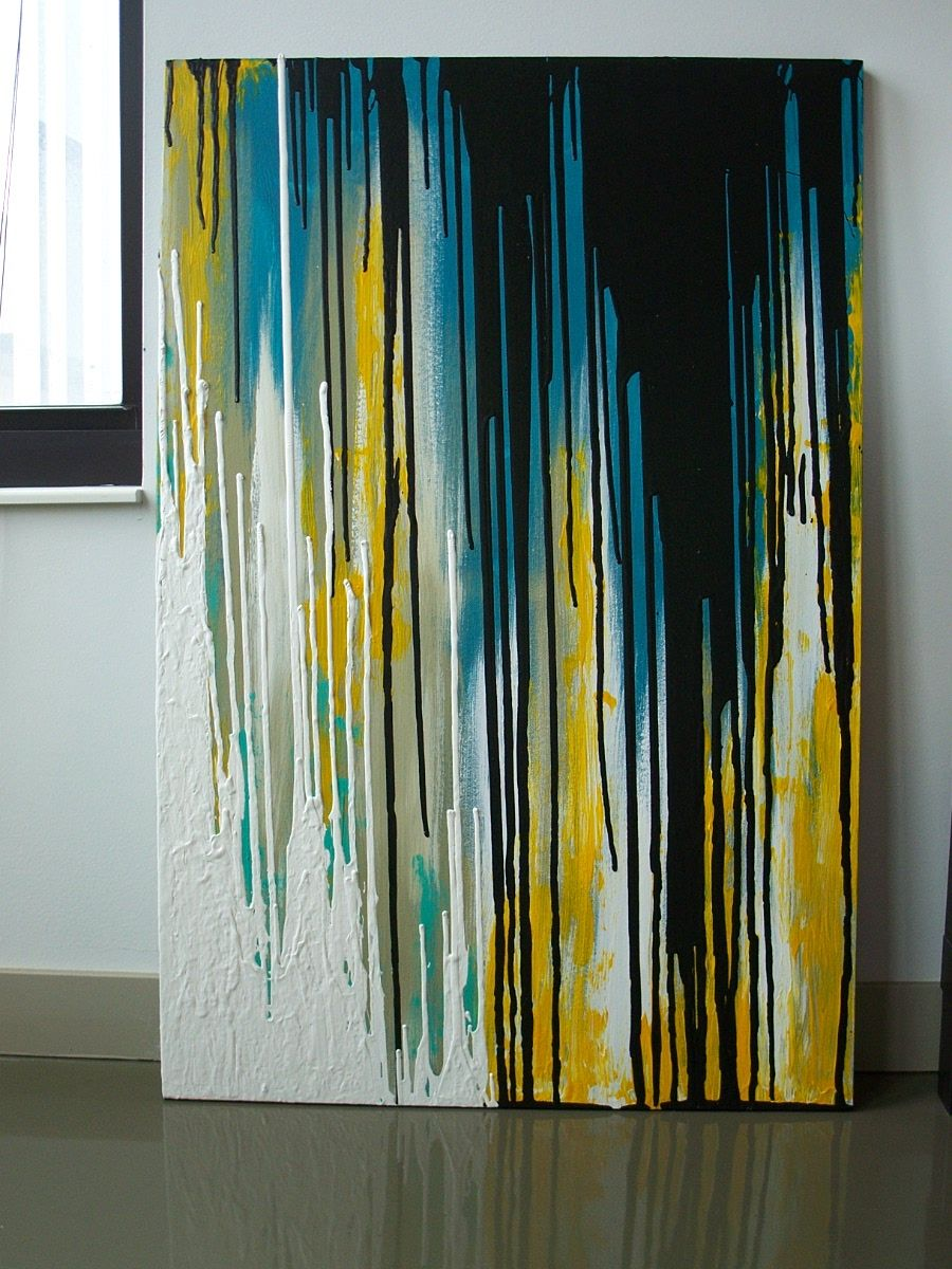 Acrylic & Latex Paint on Canvas. SOLD. | Abstract ~ Multicolored 2 ...