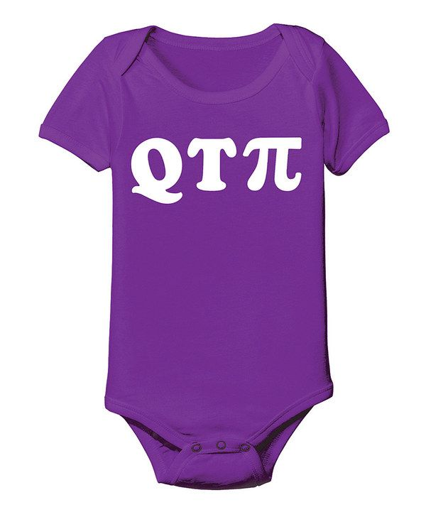 Love this KidTeeZ Purple 'Q T Pi' Bodysuit - Infant by KidTeeZ on #zulily! #zulilyfinds