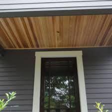 Best Cedar Plank Porch Ceiling Farmhouse Exterior House 400 x 300