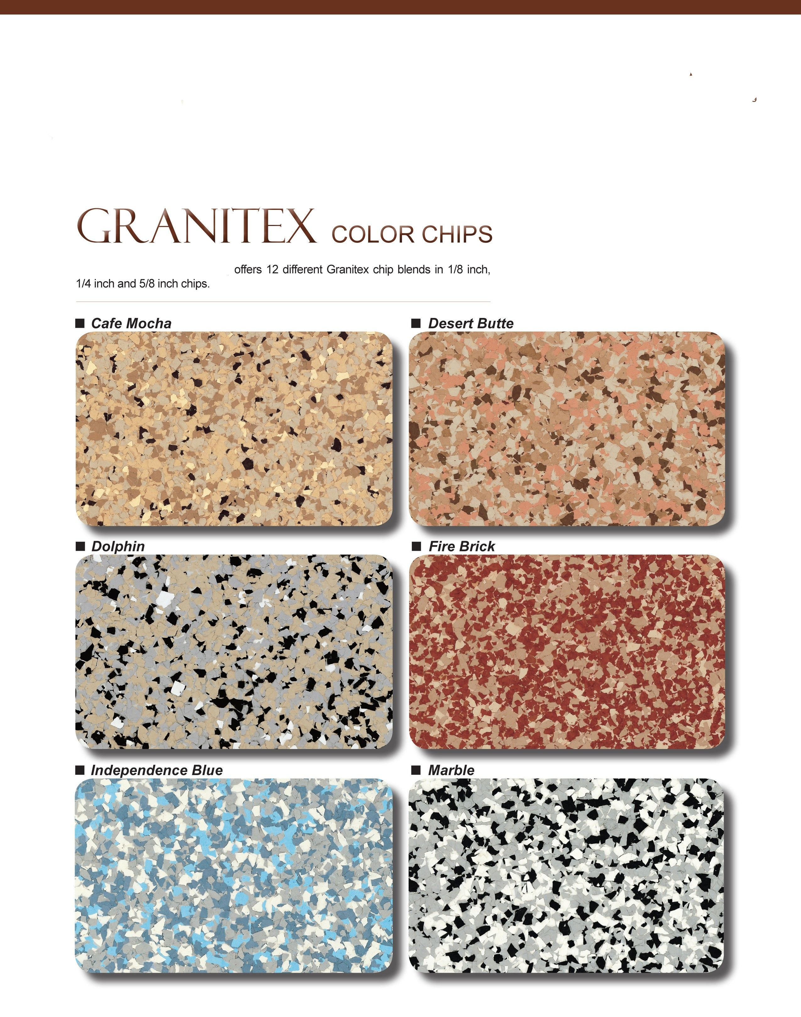 Granitex color chart. I like the Cafe Mocha for a countertop ...